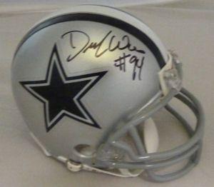 DeMarcus Ware Autographed Signed Dallas Cowboys Riddell Mini Helmet w