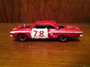 Built 1 64th 64 Plymouth Fury Demolition Derby Car Greenlight