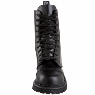 Demonia 1 Goth Punk Combat Black Leather Mens Ankle Boots Rocky 10 B