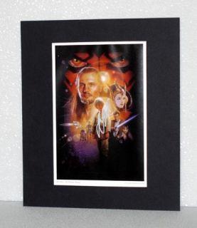 Jake Lloyd Anakin Star Wars Autograph Matted Print