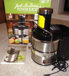 Jack LaLanne Power Juicer Deluxe Stainless Fruit Veggie Juicing
