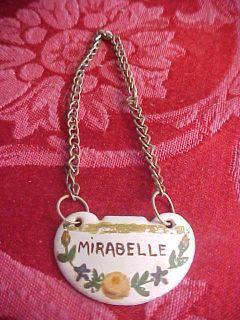Mirabelle Enamel Delvaux Paris France Liquor Wine Decanter Bottle