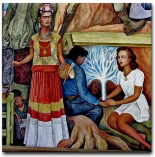 Diego Rivera Mexican Art Ceramic Tile Frida Kahlo