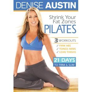 Denise Austin Shrink Your Fat Zones Pilates DVD 2010 New