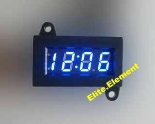 Mini Digital Clock Blue LED for Car Motorcycle motorbike Scooter Bike