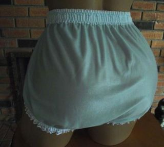 Lacey Blue Handmade Sissy Panties Lav White Lace w Satin Ribbon Bows