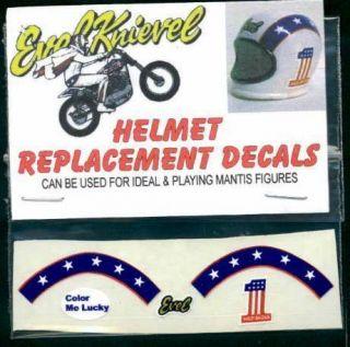 Evel Knievel Helmet Decals