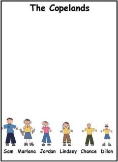 Personalized Stick Figure Note Pads