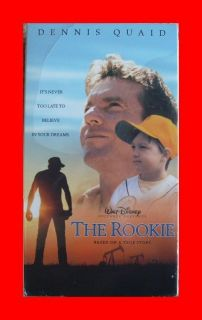 Sealed Disney THE ROOKIE VHS Movie Video Tape DENNIS QUAID Baseball