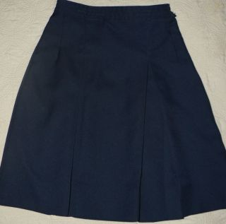Dennis Uniform Girls Navy Blue Box Pleat Skirt Sz 14