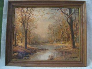 Robert Wood October Morn from Winde Fine Textured Print Framed