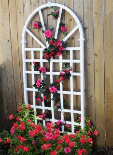 New England Arbors Decorative Garden Flower Plant White Vinyl Athens