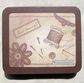 Decorative Stamps Rubber Stamp Margaret Stitchaholic Tin Set