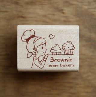 Decorative Stamps Rubber Stamp Cupcake Girl