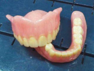 Full Upper Lower Dentures False Teeth Brand New for Display