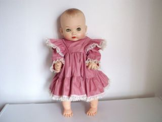 Toy My Fair Baby Doll New DY Dee Doll Pink Vintage Dress