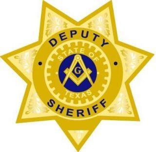 Masonic Texas Deputy Sheriff Lapel Pin