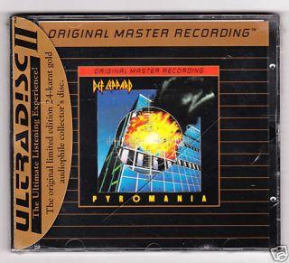 Def Leppard Pyromania Factory SEALED MFSL Ultradisc II 24 KT Gold CD