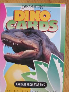 FACTORY SET OF DINAMATION DINOSAUR TRADING CARDS VERY RARE