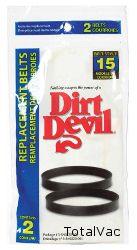 Dirt Devil Dynamite Vacuum Belts Style 15 2 Pack