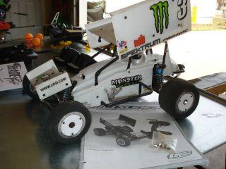 Losi 1 10 scale sprint car slider oval racer dirt late model roller