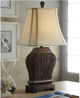 Basket Design Brown Table Lamp Lighting Horchow Designer Chic