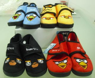 Offical Angry Birds Slippers 4 Designs for Boys and Girls Sale Xmas
