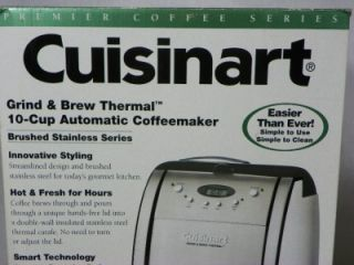 Cuisinart Grind Brew Thermal Stainless Steel 10 Cups Coffee Maker DGB