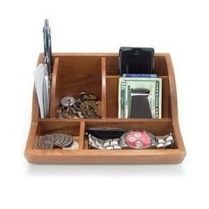 Smart Valet Tray® by Storus® Wooden Desk Organizer