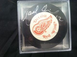 Marcel Dionne Hand Signed Detroit Red Wings Signed Hockey Puck