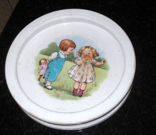 1900s Buffalo Pottery Childs Dish Dolly Dimples Campbells Soup by
