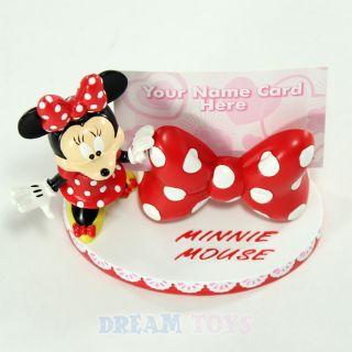 Disney Minnie Mouse Figure Desktop Business Card Holder   Display Big