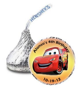 108 Personalized Hersheys candy kiss disney the CARS Labels party