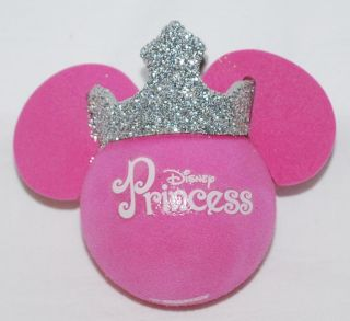Disney Mickey Princess Pink Silver Crown Car Antenna Topper NEW