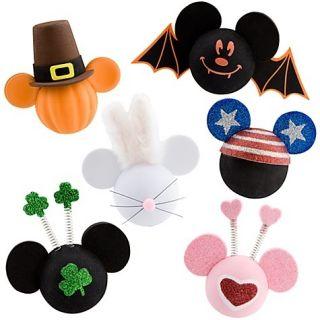 Disney Parks Holiday Halloween Mickey Car Antenna Ball Topper Set of 6
