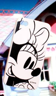 iPhone 4 4G 4S Hard Cover Case Disney White Grey Minnie Mouse Gel