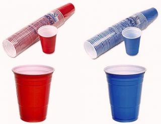 Blue American Solo Plastic Party Cups Official Beer Pong Cups