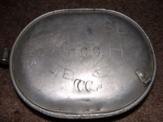 Pre WWII Civilian Conservation Corps Mess Kit Engraved with CCC and