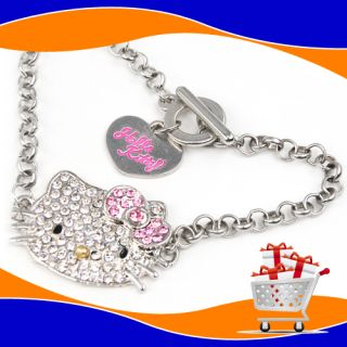 Kitty Crystal Bling Bracelet Wrist Chain Jewelry Sparkle Diamante