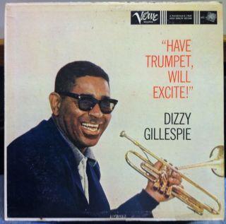 Dizzy Gillespie Have Trumpet Will Excite LP VG MGV 8313 Vinyl 1959