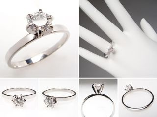 Carat Diamond Solitaire Engagement Ring 14K White Gold skuwm7510