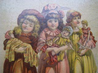 VTG ANTIQUE 1889 CHILDRENS CHRISTMAS STORY BOOK SANTA CLAUS GRAPHIC