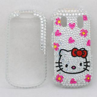 Bling Diamond Silver Kitty Hard Case Cover for Samsung Intensity II 2