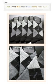 NWT 5 PAIRS MENS DRESS DIADORA SOCKS KOREA Argyle New c