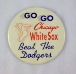 1959 Chicago White Sox vs Los Angeles Dodgers World Series Button Pin
