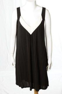 Diane Von Furstenberg Black LBD Stretch Knit Sleeveless Dress Sz 8