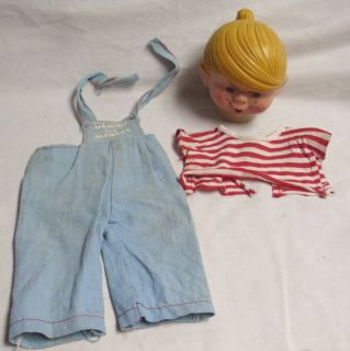 Ideal Dennis The Menace Original Doll Clothes Head Part 1960s