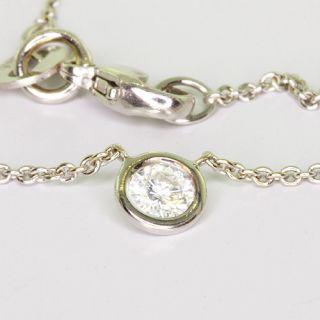 Ladies 14K White Gold Round Diamond Solitaire Pendant Necklace
