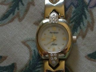 Armitron Ladies Goldtone Faux Diamond Watch Quartz