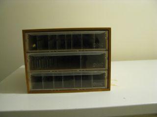 DMC wooden floss storage box